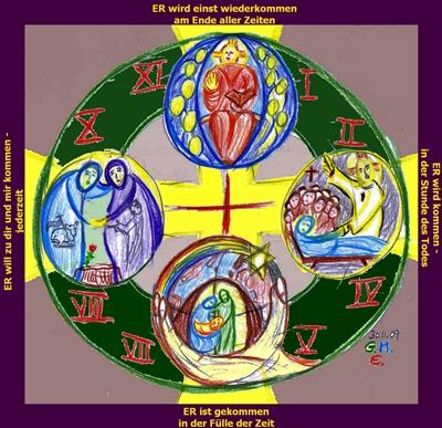 4fache Ankunft Christi