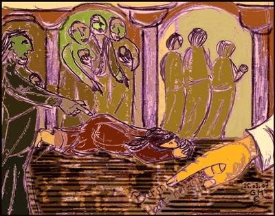 Jesus und die Ehebrecherin (c) G. M. Ehlert