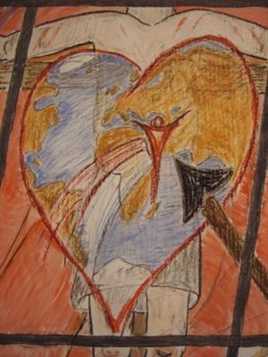 """""""Du König auf dem Kreuzesthron, Herr Jesus Christus, Gottes Sohn: dein Herz, verwundet und betrübt, hat uns bis in den Tod geliebt."""" (Gotteslob 553)"""