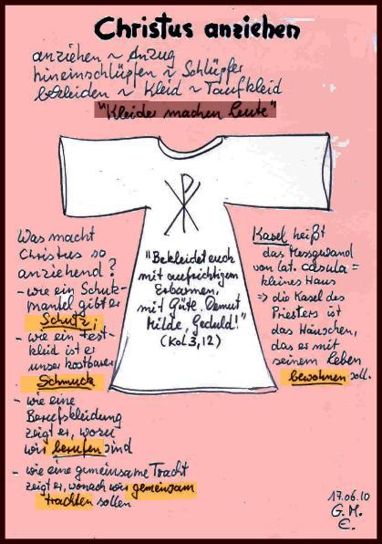 Christus anziehen - Skizze von G. M. Ehlert, 17.06.2010