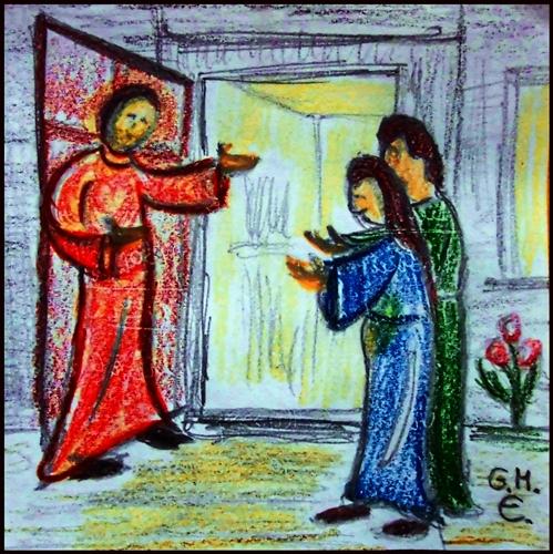 aufnahmebereit sein - zum 4. Advent (c) G. M. Ehlert, Dez. 2014