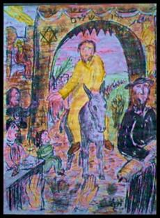 Einzug Jesu in Jerusalem - Zeichnung von G.M. Ehlert