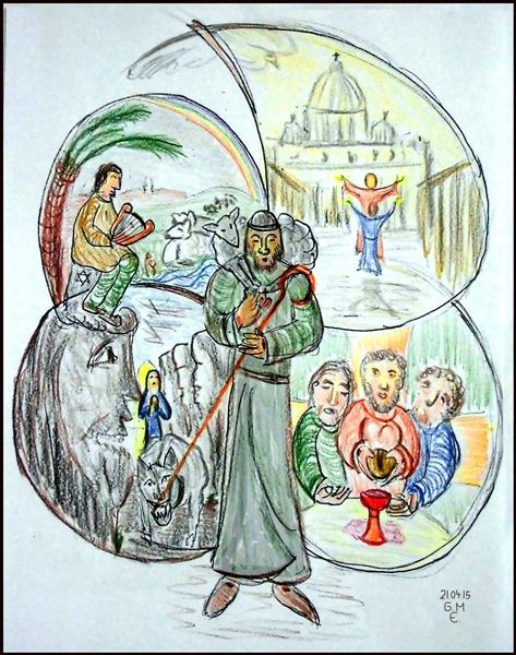 Grafik zu Psalm 23 (c) G. M. Ehlert