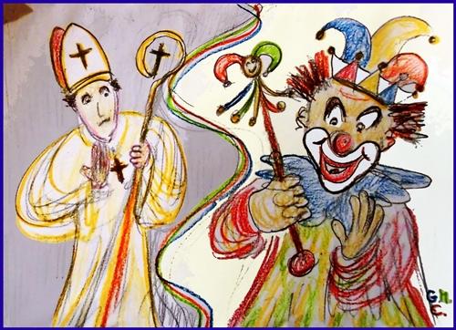 """""""Bischof - Clown"""" - zu Karneval, (c) Georg Michael Ehlert, 22.02.2017"""