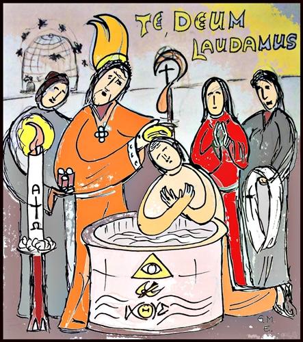 Ambrosius-tauft-Augustinus-a